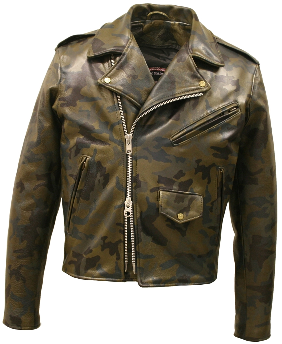 Camouflage Biker Jacket (Custom-Made)
